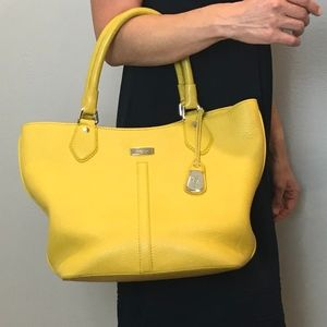 Cole Haan   Mustard Yellow Leather Purse